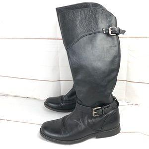 FRYE gorgeous black leather tall boots sz 5.5